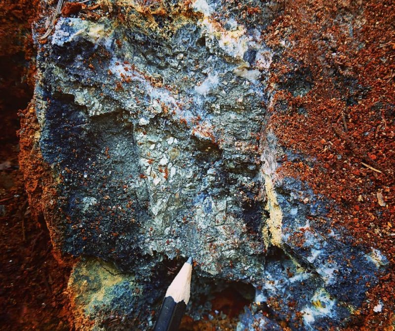 Example of Zinc mineralization found at Anomaly E.